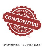 confidential rubber stamp | Shutterstock .eps vector #1044641656