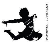 caucasian dancer black... | Shutterstock .eps vector #1044643225