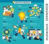 flat design concept creative... | Shutterstock .eps vector #1044654028