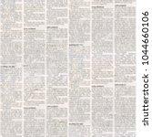 old grunge unreadable vintage... | Shutterstock . vector #1044660106