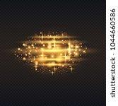 gold glow particles bokeh.... | Shutterstock .eps vector #1044660586