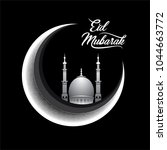 vector illustration of eid... | Shutterstock .eps vector #1044663772