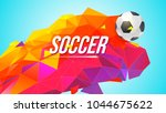 soccer banner for tournaments ... | Shutterstock .eps vector #1044675622