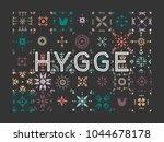 vector geometric colored tiled...   Shutterstock .eps vector #1044678178