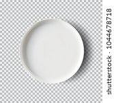 white plate isolated on... | Shutterstock .eps vector #1044678718