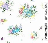 abstract flower seamless... | Shutterstock .eps vector #1044682528