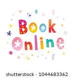 book online web button  | Shutterstock .eps vector #1044683362