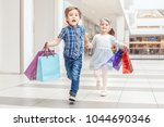 group portrait of two cute... | Shutterstock . vector #1044690346