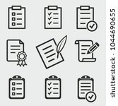 form vector icons set. black... | Shutterstock .eps vector #1044690655