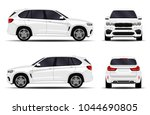 realistic suv car. front view ... | Shutterstock .eps vector #1044690805