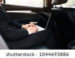 businessman using computer...   Shutterstock . vector #1044693886