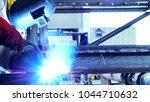 welder industrial  welding... | Shutterstock . vector #1044710632