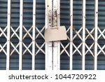 front store house is closed...   Shutterstock . vector #1044720922