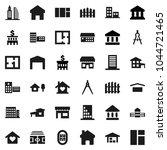 flat vector icon set   school... | Shutterstock .eps vector #1044721465