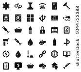 flat vector icon set   scraper... | Shutterstock .eps vector #1044723388