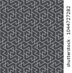 seamless linear pattern with... | Shutterstock .eps vector #1044727282