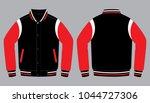 warm up jacket design  black... | Shutterstock .eps vector #1044727306