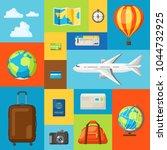 travel concept illustration.... | Shutterstock .eps vector #1044732925