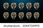 award golden label of first ... | Shutterstock .eps vector #1044734995