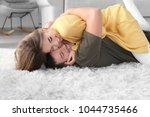 cute young lovely couple having ... | Shutterstock . vector #1044735466