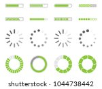 loading icons  load indicator... | Shutterstock .eps vector #1044738442