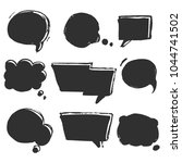 speech  thougth  speaking hand... | Shutterstock .eps vector #1044741502