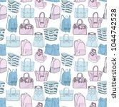 vector seamless fashion pattern ...   Shutterstock .eps vector #1044742528