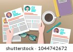 recruitment or headhunting... | Shutterstock .eps vector #1044742672