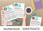 recruitment or headhunting...   Shutterstock .eps vector #1044742672