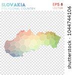 slovakia polygonal  mosaic...   Shutterstock .eps vector #1044744106