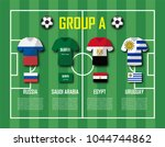 soccer cup 2018 team group a .... | Shutterstock .eps vector #1044744862