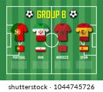soccer cup 2018 team group b .... | Shutterstock .eps vector #1044745726