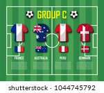 soccer cup 2018 team group c .... | Shutterstock .eps vector #1044745792