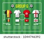 soccer cup 2018 team group g .... | Shutterstock .eps vector #1044746392