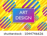 abstract colorful playful... | Shutterstock .eps vector #1044746626