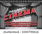 cinema   retro neon monochrome... | Shutterstock .eps vector #1044750616