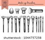 vector set with sketch makeup...   Shutterstock .eps vector #1044757258