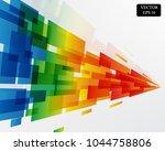 rainbow square arrow pattern...   Shutterstock .eps vector #1044758806