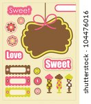 cute scrapbook elements... | Shutterstock .eps vector #104476016
