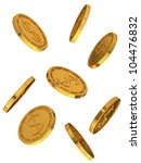gold coins with dollar sign | Shutterstock . vector #104476832