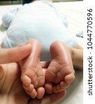 close up baby feet. | Shutterstock . vector #1044770596