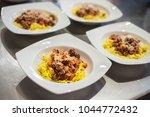 cooking italian pasta | Shutterstock . vector #1044772432