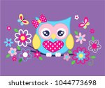 Lovely Owls And Wreaths Vector...