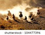 Cowboys Chasing Wilding Horses...