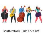 singer  guitarist  saxophonist  ... | Shutterstock .eps vector #1044776125