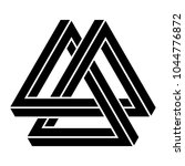 valknut impossible triangles ... | Shutterstock .eps vector #1044776872