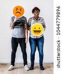 interracial couple holding an...   Shutterstock . vector #1044779896