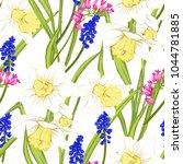 floral seamless pattern ... | Shutterstock .eps vector #1044781885