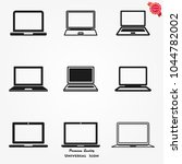 laptop icons vector | Shutterstock .eps vector #1044782002