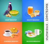 various types of delicious... | Shutterstock .eps vector #1044782446